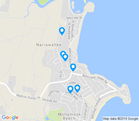 map of Narrawallee apartments for rent