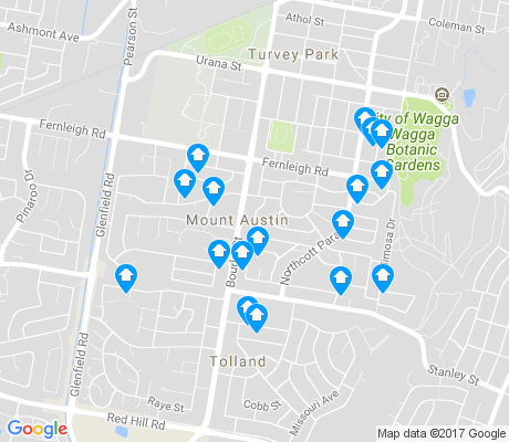 map of Mount Austin apartments for rent