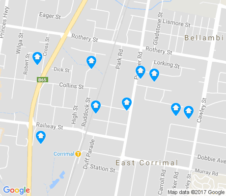 map of Bellambi apartments for rent