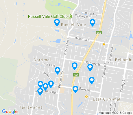map of Corrimal apartments for rent