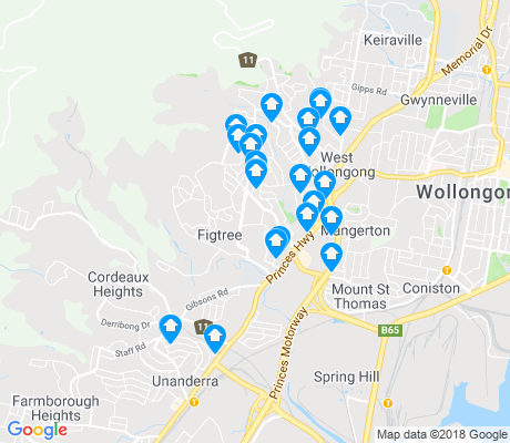 map of Figtree apartments for rent