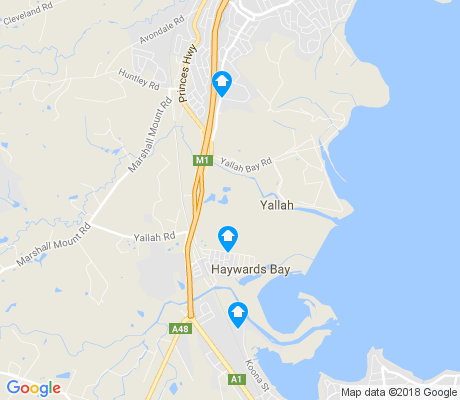map of Haywards Bay apartments for rent