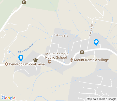 map of Mount Kembla apartments for rent