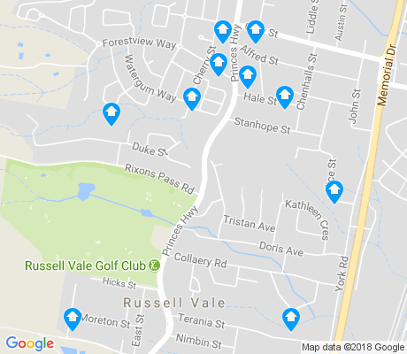 map of Russell Vale apartments for rent