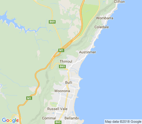 map of Thirroul apartments for rent