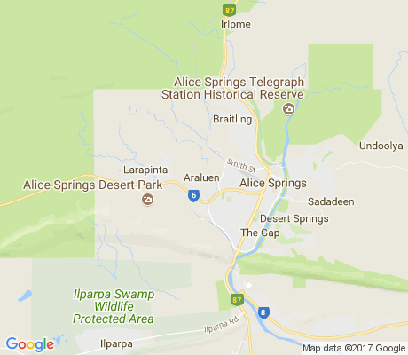 map of Araluen apartments for rent