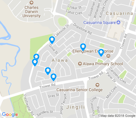 map of Alawa apartments for rent
