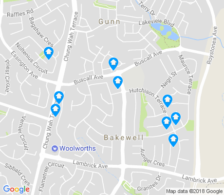 map of Bakewell apartments for rent