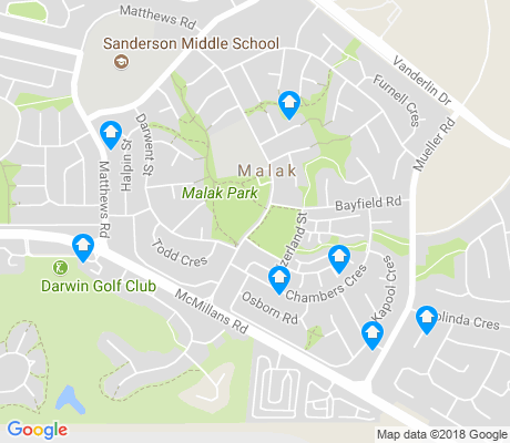 map of Malak apartments for rent