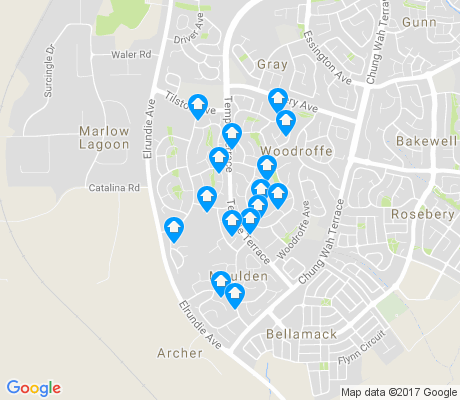 map of Moulden apartments for rent