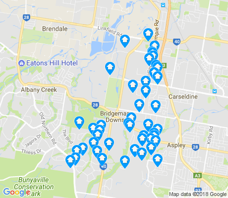 map of Bridgeman Downs apartments for rent