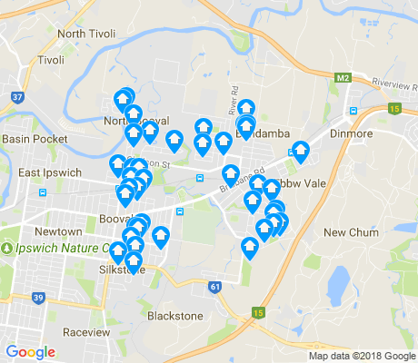 map of Bundamba apartments for rent