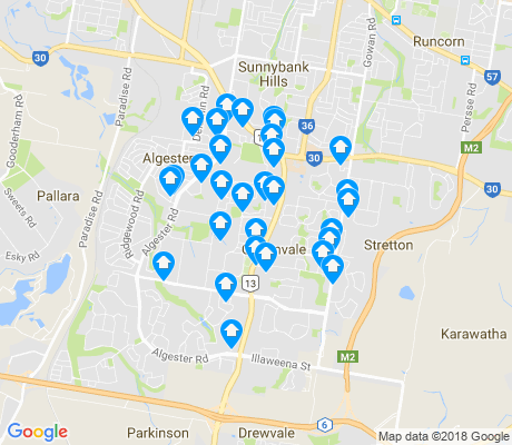 map of Calamvale apartments for rent
