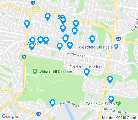map of Carina Heights apartments for rent