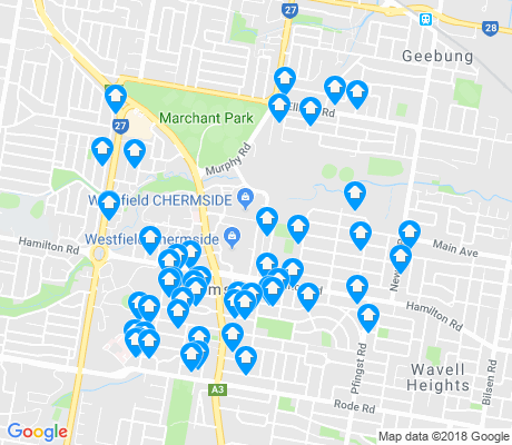 map of Chermside apartments for rent