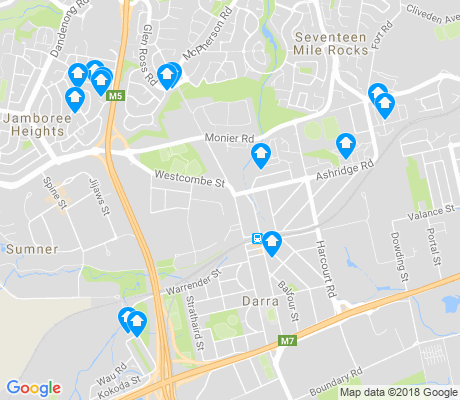 map of Darra apartments for rent
