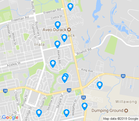 map of Durack apartments for rent