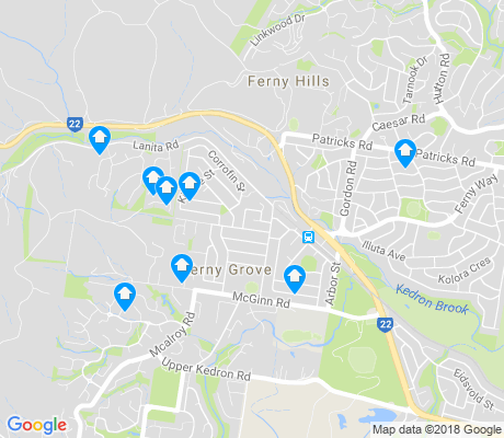 map of Ferny Grove apartments for rent