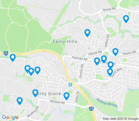 map of Ferny Hills apartments for rent