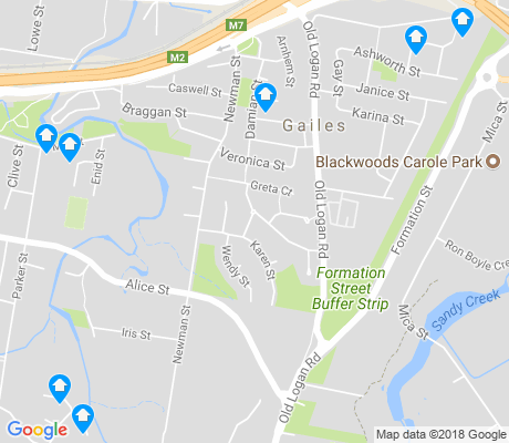 map of Gailes apartments for rent
