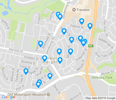 map of Jamboree Heights apartments for rent