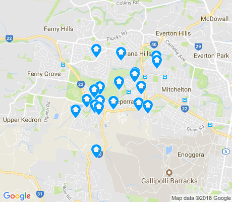 map of Keperra apartments for rent