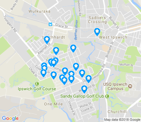 map of Leichhardt apartments for rent
