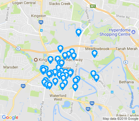 map of Loganlea apartments for rent