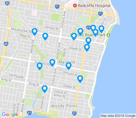 map of Margate apartments for rent