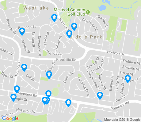 map of Middle Park apartments for rent