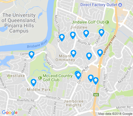map of Mount Ommaney apartments for rent