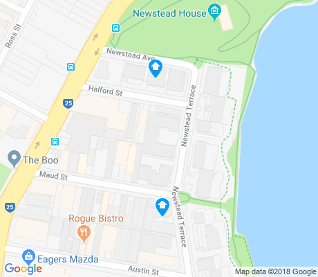map of Newstead apartments for rent