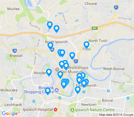 map of North Ipswich apartments for rent