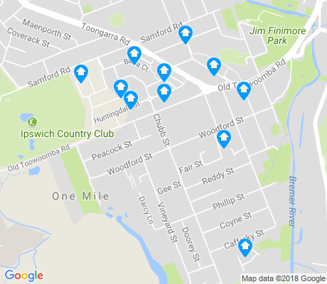 map of One Mile apartments for rent