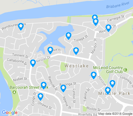 map of Pinjarra Hills apartments for rent