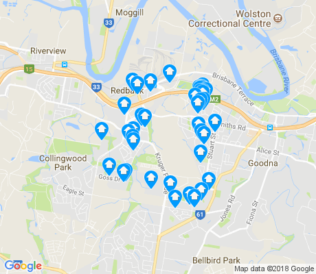 map of Redbank apartments for rent
