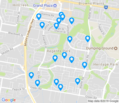 map of Regents Park apartments for rent