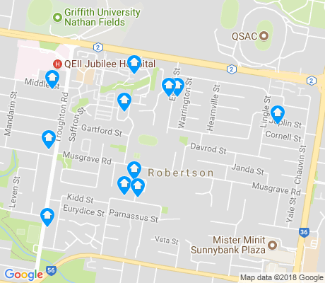 map of Robertson apartments for rent