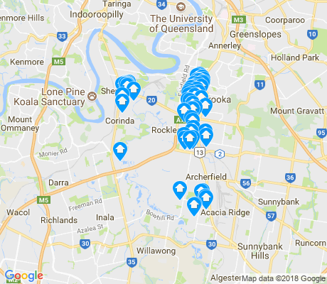 map of Rocklea apartments for rent