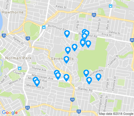 map of Seven Hills apartments for rent