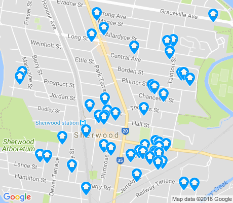 map of Sherwood apartments for rent