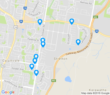 map of Stretton apartments for rent