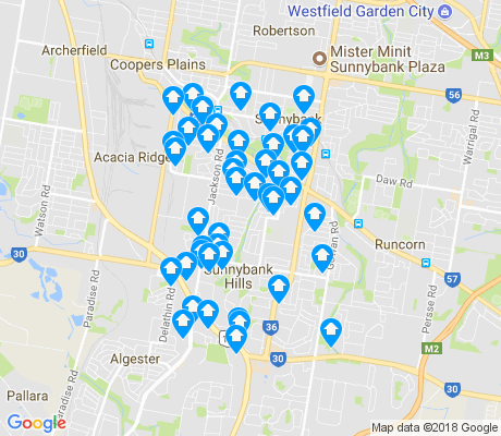 map of Sunnybank Hills apartments for rent