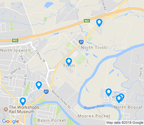 map of Tivoli apartments for rent
