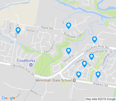 map of Upper Caboolture apartments for rent