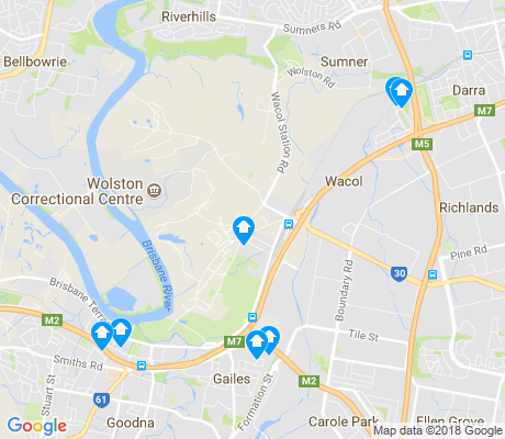 map of Wacol apartments for rent