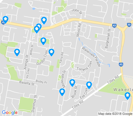map of Wakerley apartments for rent
