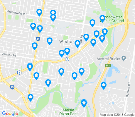 map of Wishart apartments for rent