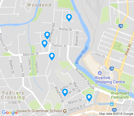 map of Woodend apartments for rent
