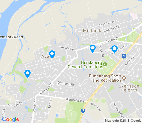 map of Avoca apartments for rent